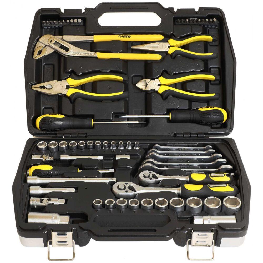 Vito Pro-Power Boite à outils 63 pièces chrome vanadium VITO VIMF63 Malette haute qualité