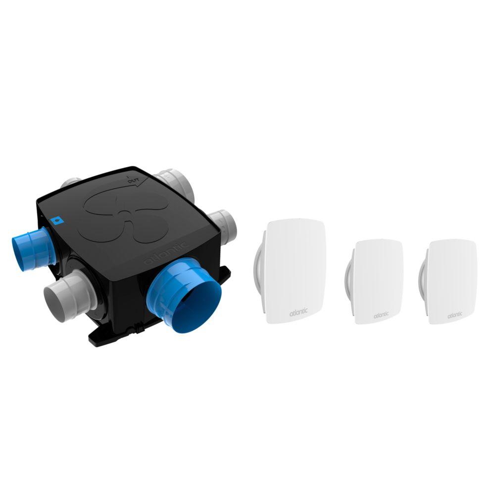 Atlantic VMC simple flux autoréglable intelligente kit Autocosy IH Flex - Atlantic - 4 sanitaires + 1 cuisine