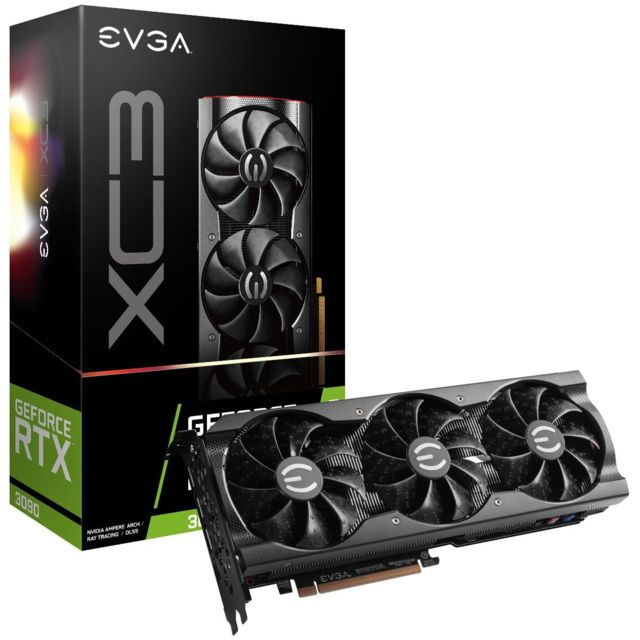 Evga - GeForce RTX 3090 XC3 GAMING - Triple Fan - 24Go - Carte Graphique NVIDIA