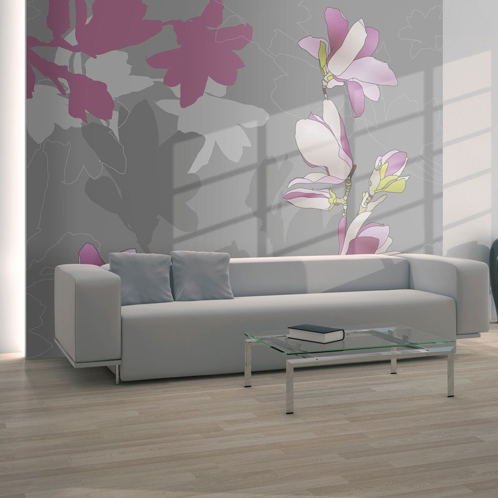 Bimago Papier peint   magnolia (rose)   250x193   Fonds et Dessins   Motifs floraux  