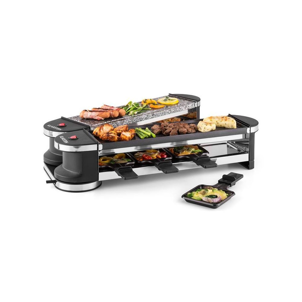 Klarstein Klarstein Tenderloin 50/50 Raclette-grill 1200W 8 personnes Pierre naturelle Klarstein