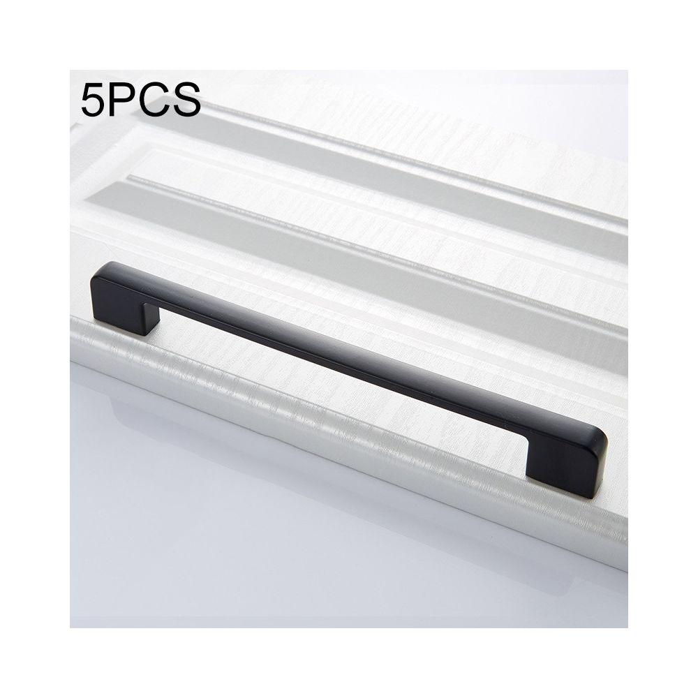 Wewoo Poignée d'armoire 5 PCS 6613-192 de porte simple tiroir en alliage de zinc noir