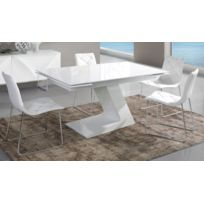 Table salle a manger laque blanc - Achat Table salle a ...