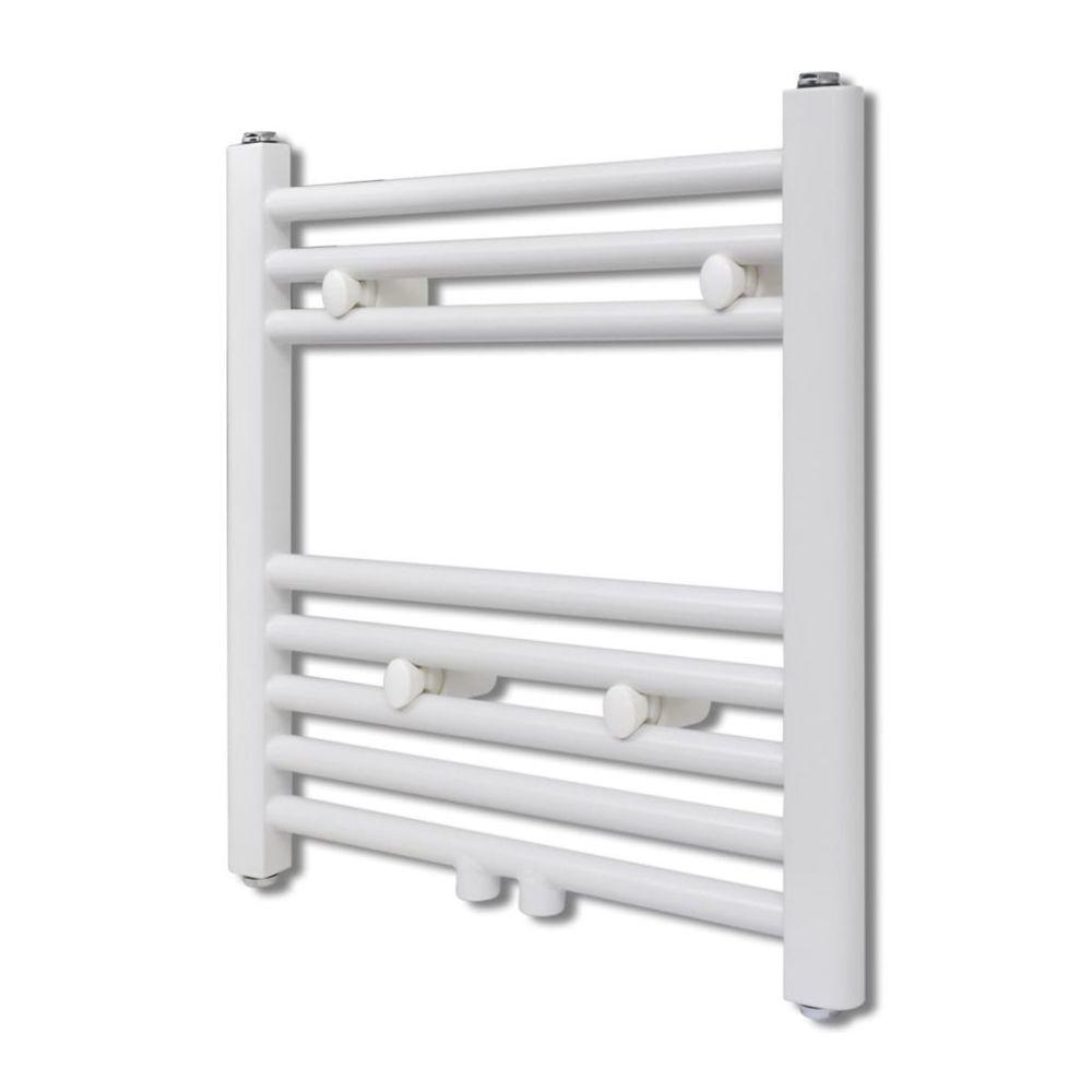 Vidaxl Radiateur Sèche-Serviettes Vertical pour Salle de Bain 480 x 480 mm   Blanc