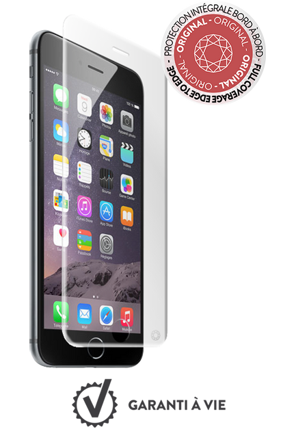 Force Glass - Verre trempe iPhone 7 Plus / 8 Plus - Transparent - Protection écran smartphone
