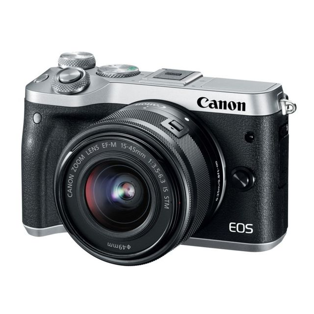 Canon - PACK CANON EOS M6 + 15-45 SILVER - Pack appareil photo