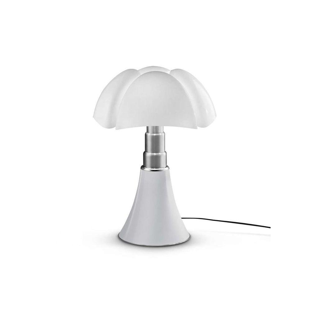 Martinelli Luce PIPISTRELLO MEDIUM-Lampe Dimmer LED pied télescopique H50-62cm Blanc Martinelli Luce - designé par Gae Aulenti
