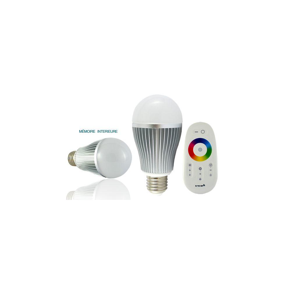 Vision-El ampoule à led - vision-el - e27 - 8w - rgb - bulb - avec télécommande