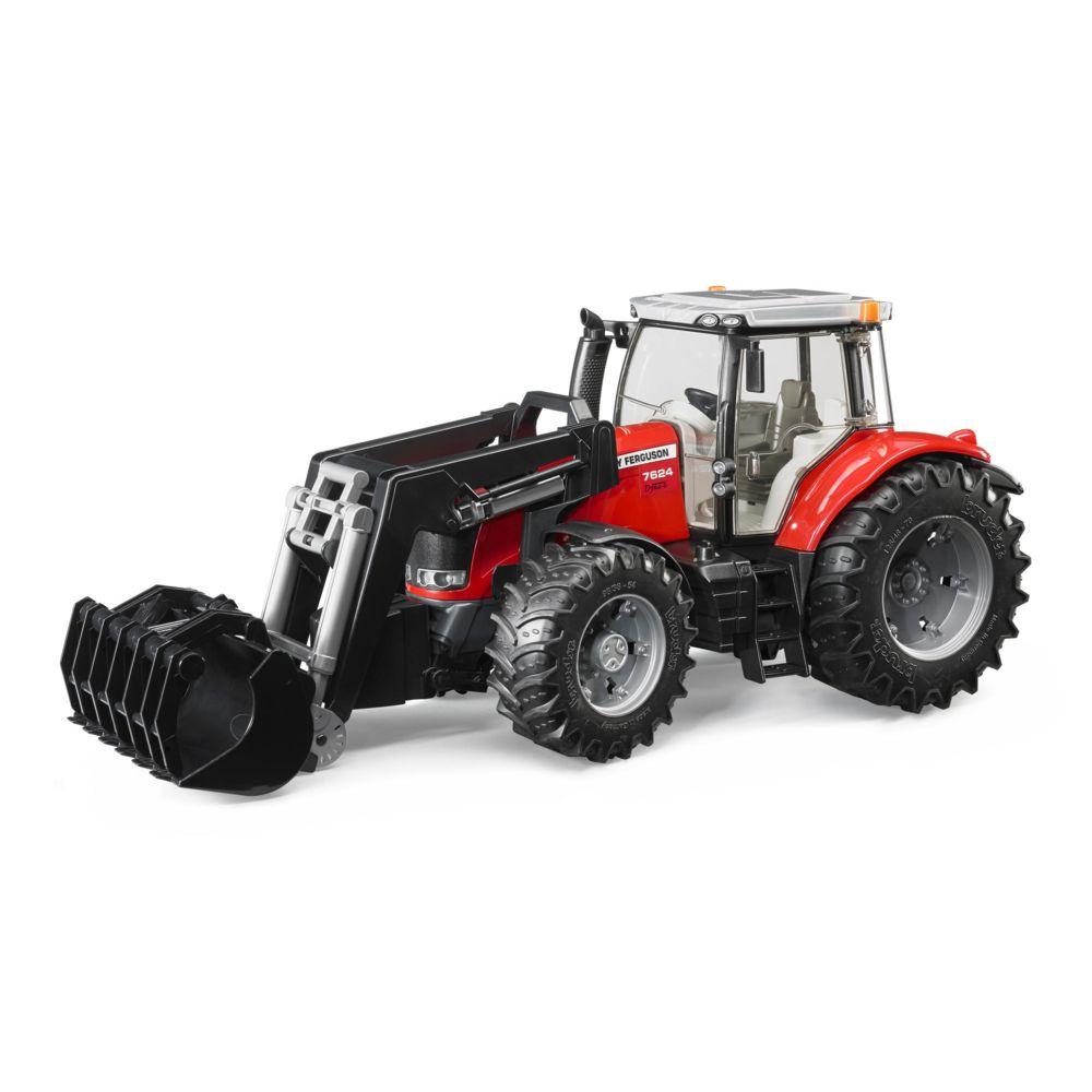 Bruder Tracteur Massey Ferguson 7600 avec Fourche