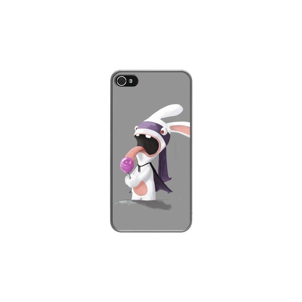 Apple - Coque iPhone 4 et 4S Lapin Crétin Sucette - Bertrand ...