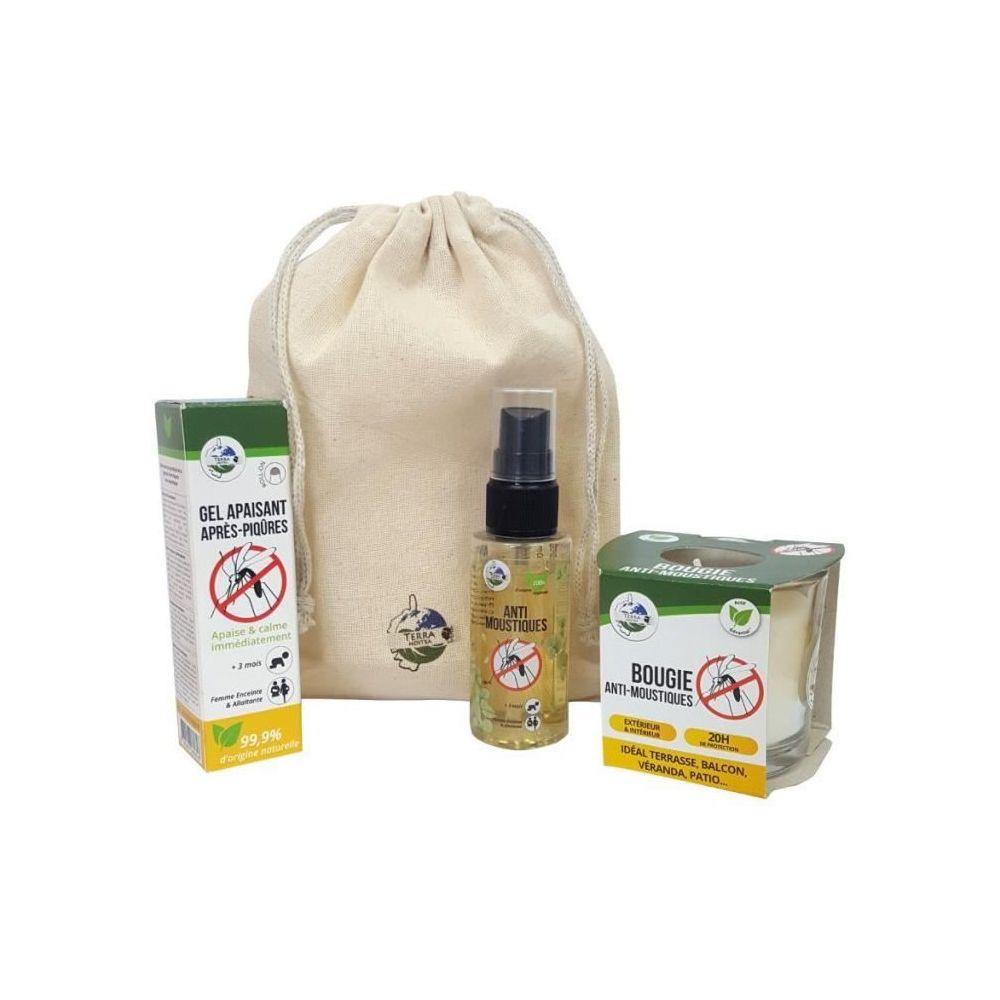 Terra Nostra TERRA NOSTRA Kit anti-moustiques N°1 - Bougie, Spray 50 ml & Gel apaisant