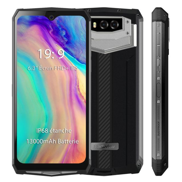 "Blackview - Smartphone Incassable IP68 Etanche Blackview BV9100 6.3"""" Écran 13000mAh Grosse Batterie 4Go + 64Go Téléphone mobile 4G NFC - Argent - Smartphone Android"