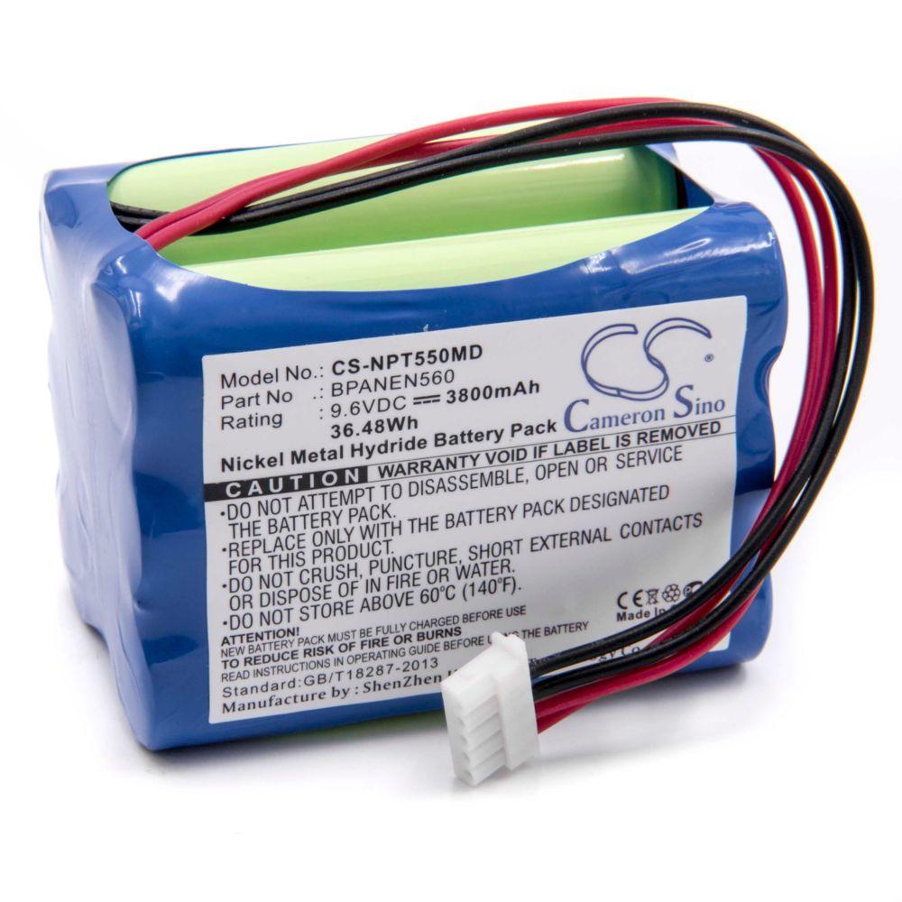 Vhbw vhbw Batterie NiMH 3800mAh (9.6V) Nellcor Puritan Bennett N-550B Pulse Oximeter, N-560 Pulse Oximeter, N550B, N560 comme