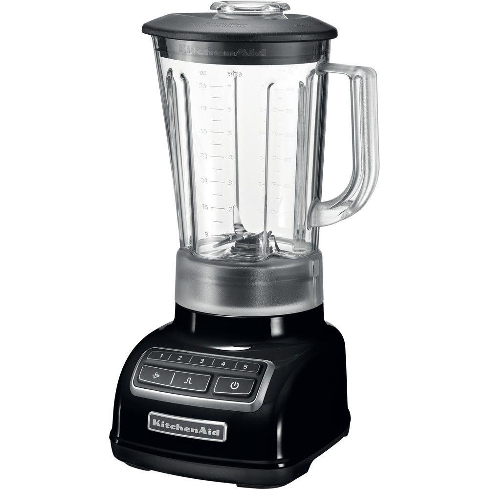 Kitchenaid blender mixeur électrique de 1,75L avec 5 vitesses 550W noir onyx gris