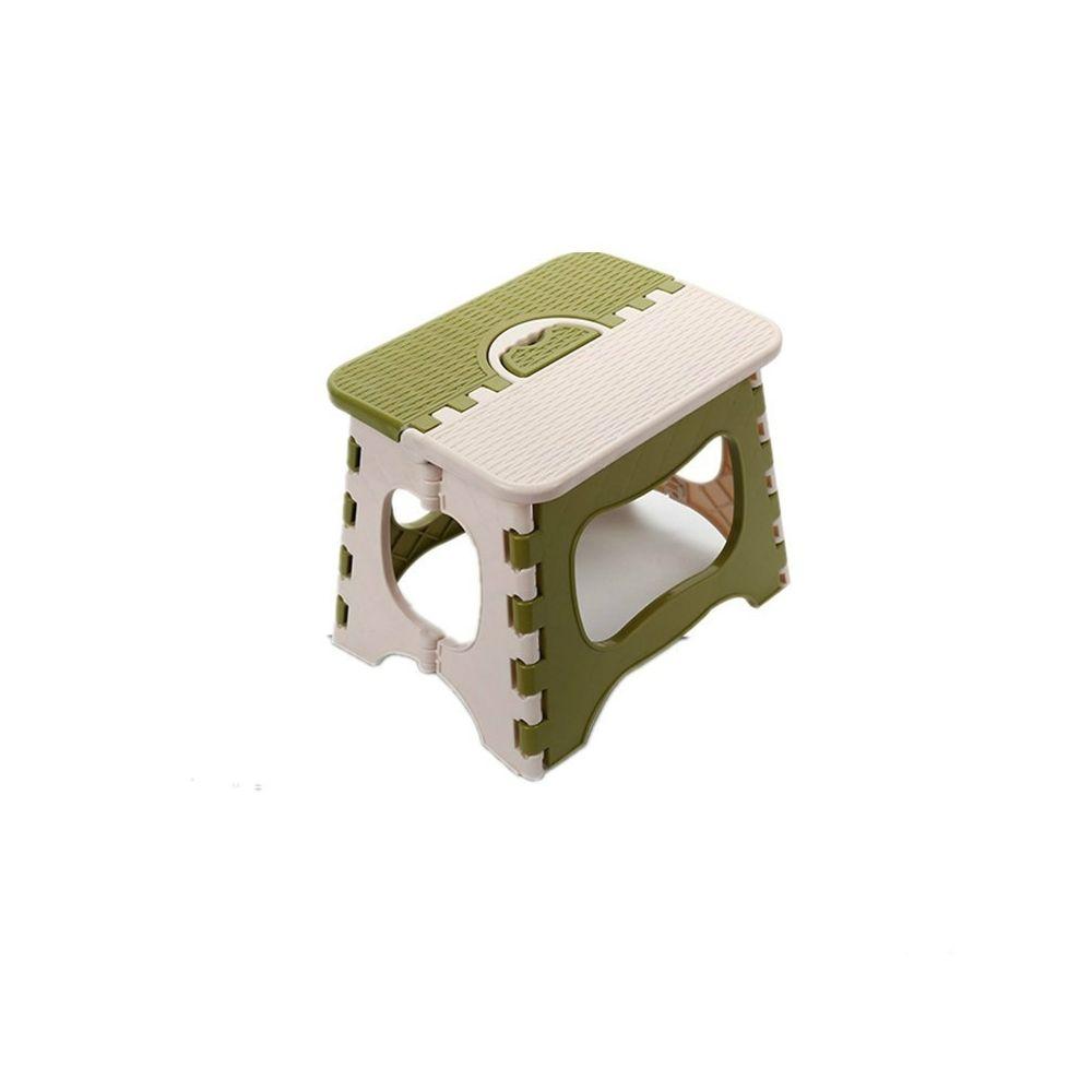 Wewoo Chaise pliante en plastique Épaissir Mini-tabourets portables pour enfants vert