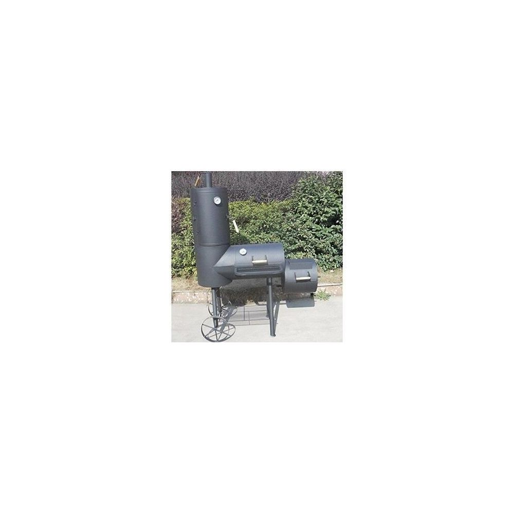 Syntrox Germany FUMOIR DOUBLE BARBECUE GRILL AVEC FUMEUR GRILL À CHARBON