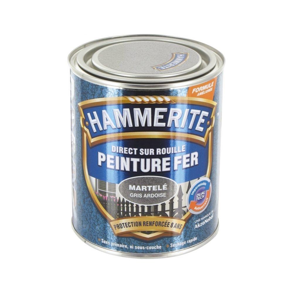 Hammerite Peinture fer - Martelé Gris - 750 ml - HAMMERITE