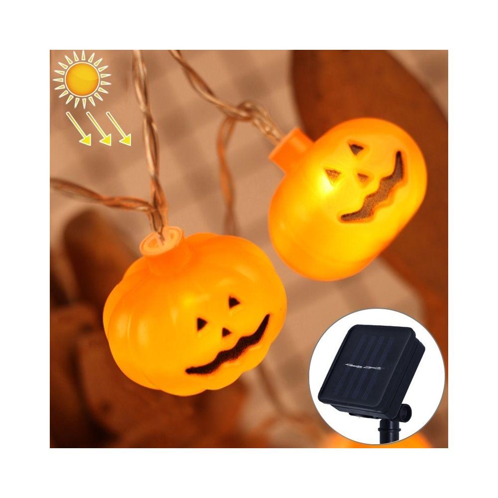 Wewoo 2,5 m citrouille design jaune lumière Halloween série solaire alimenté LED lumière de chaîne, 20 LED parti accessoires f
