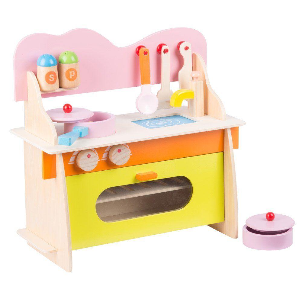 Maison Futee Ma petite cuisine en bois et ses accessoires