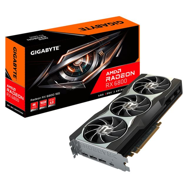 Gigabyte - Radeon RX 6800 - Triple Fan - 16Go - Carte Graphique AMD