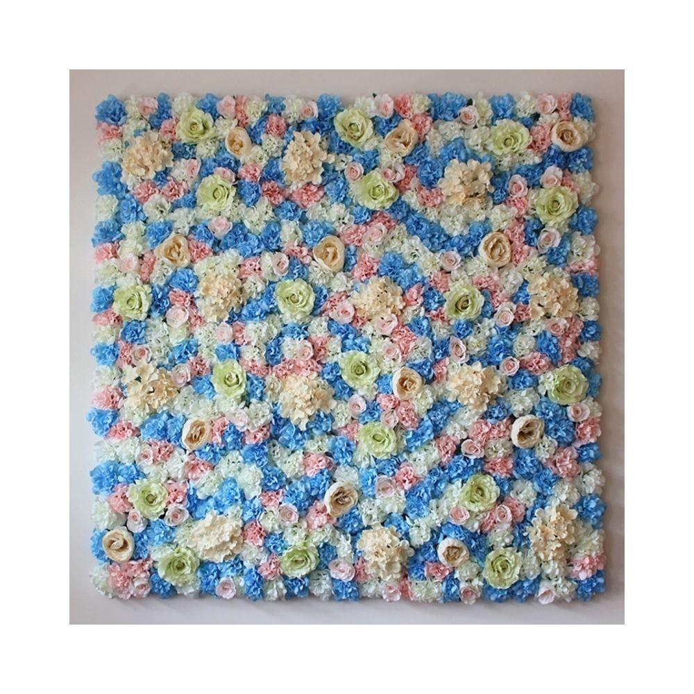 Wewoo Décoration Jardin blanc et rose Bleu floraison pivoine Hortensia artificielle cryptage fleur bricolage mariage murale ph