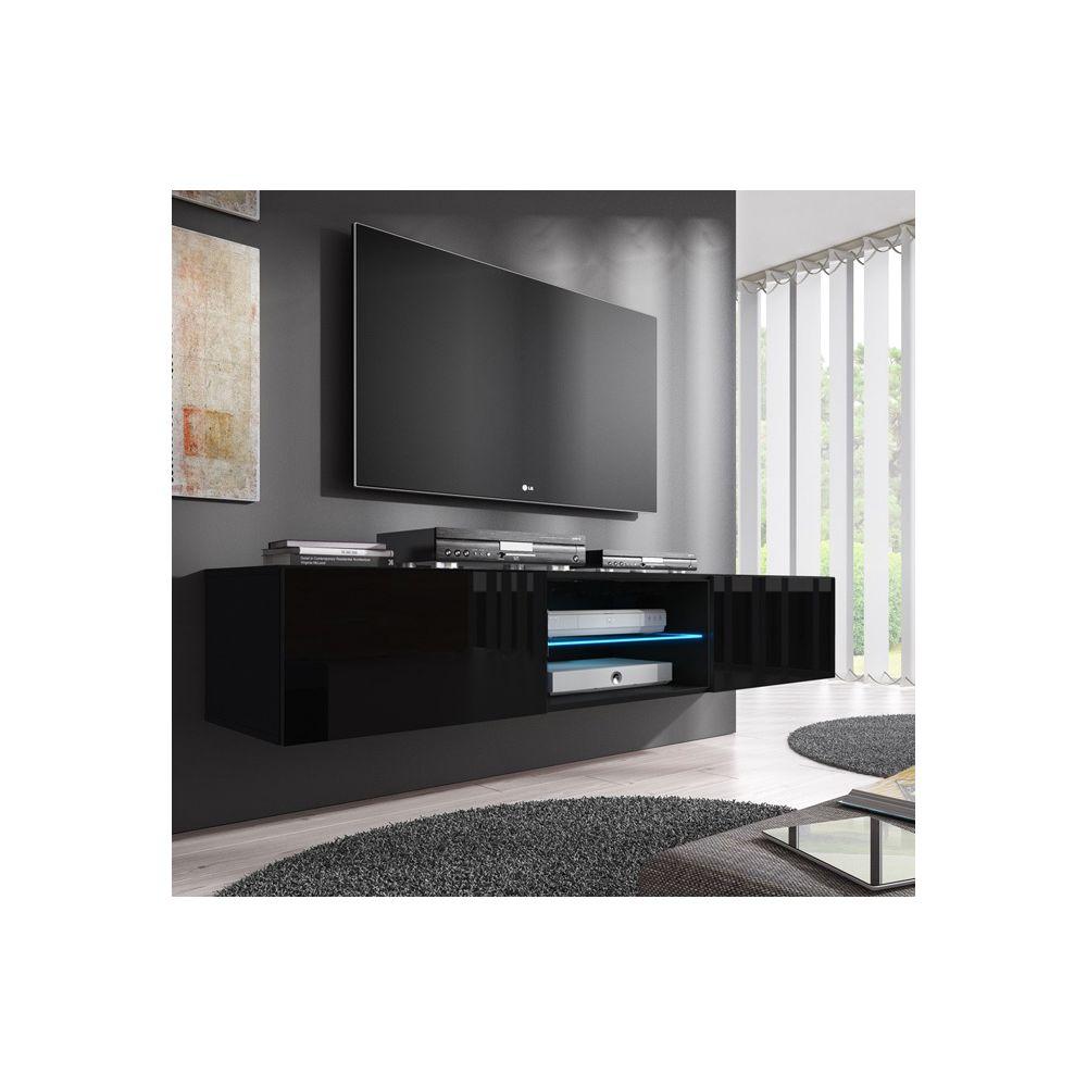 Design Ameublement Meuble TV modèle Tibi (160 cm) noir