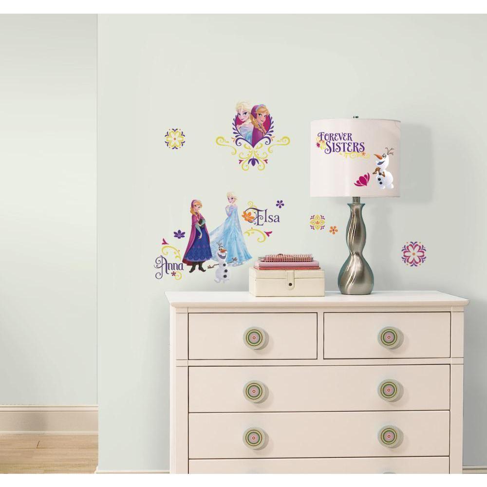Mon Beau Tapis LA REINE DES NEIGES - Stickers repositionnables brilliants la Reine des Neiges, Disney