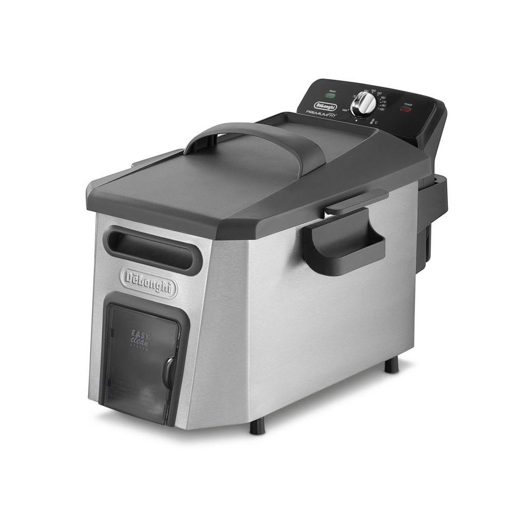 Delonghi friteuse électrique de 1kg avec thermostat ajustable 3200W gris noir