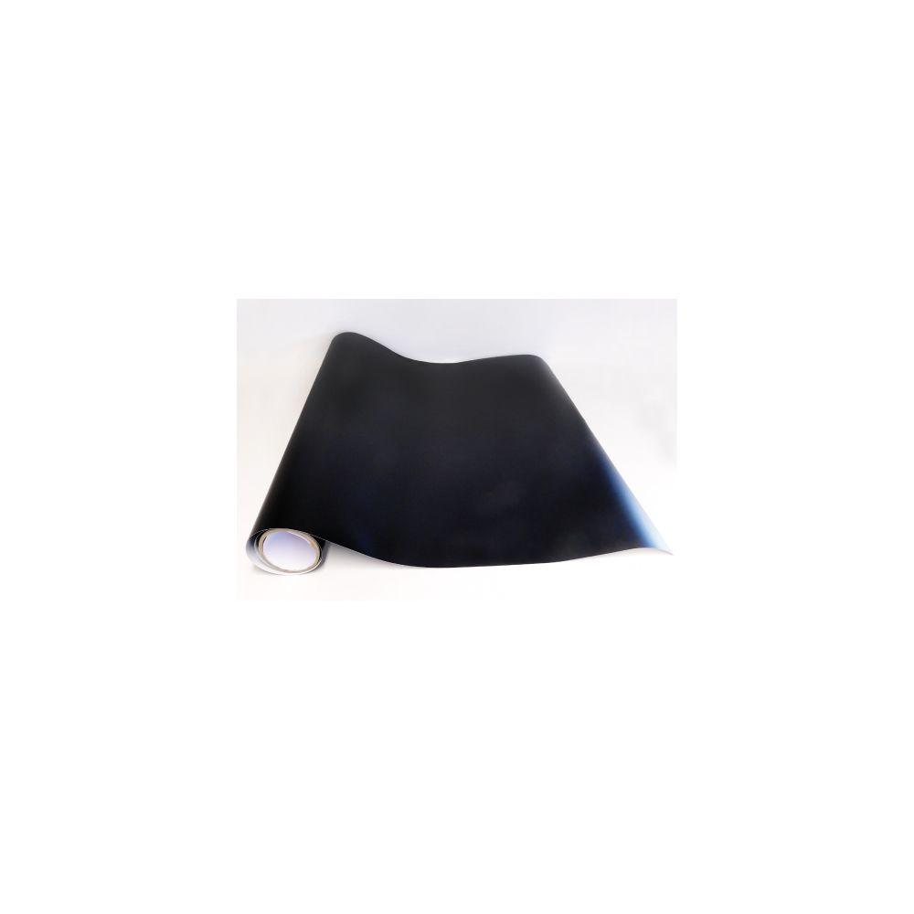 Adzif Biz Rouleau adhésif - Papier peint autocollant Noir mat (13 m x 123 cm)