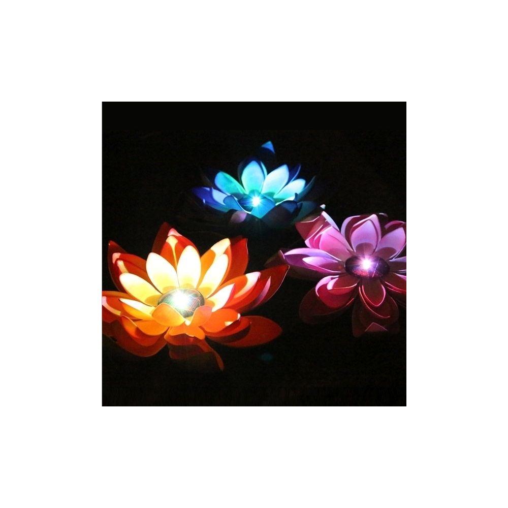 Wewoo Guirlande Lumière solaire flottante de fleur de lotus de LED de puissance avec le panneau solaire, 1 avec 3 lampes de de