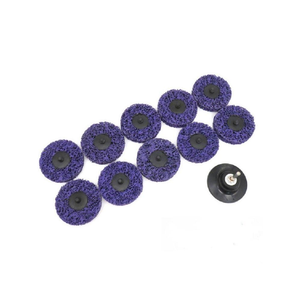 Wewoo 11 en 1 feuille de polissage de diamant de de peinture de roue de de de 75mm acier inoxydable