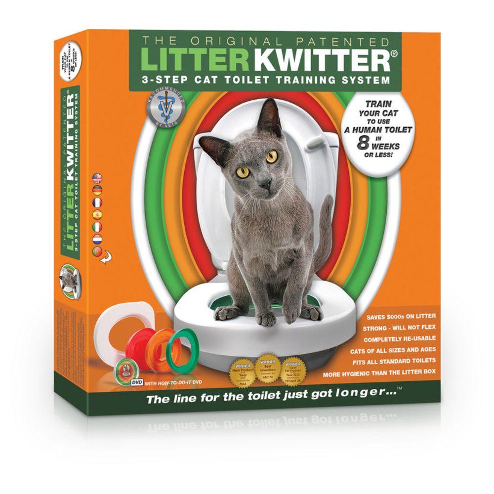 Litter Kwitter Kit de Toilette pour Chats - Litter Kwitter