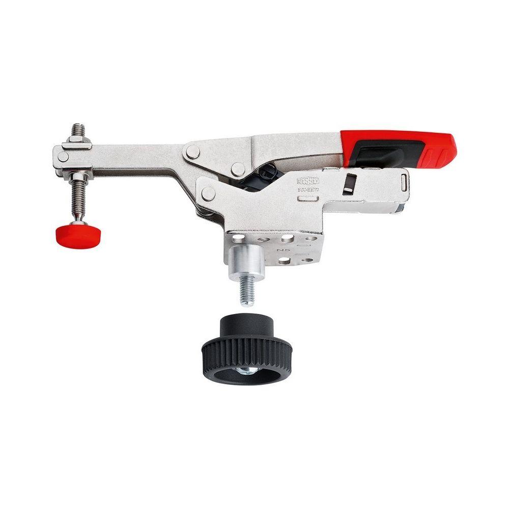 Bessey Bessey Sauterelle à serrage vertical avec bras ouvert et platine de fixation horizontale STC-VH avec jeu d'accessoires -