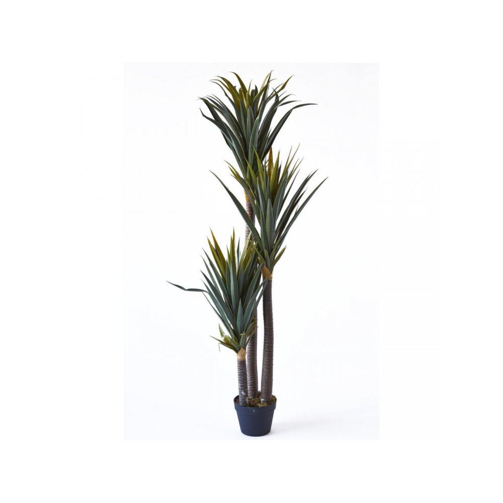 Bobochic BOBOCHIC Plante artificielle OLLA 153 feuilles et pot noir