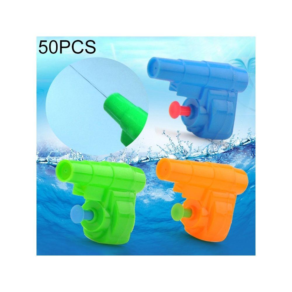 Wewoo L'eau des enfants de 50 PCS joue le mini pistolet d'eau de tir en plastiquelivraison aléatoire de couleur