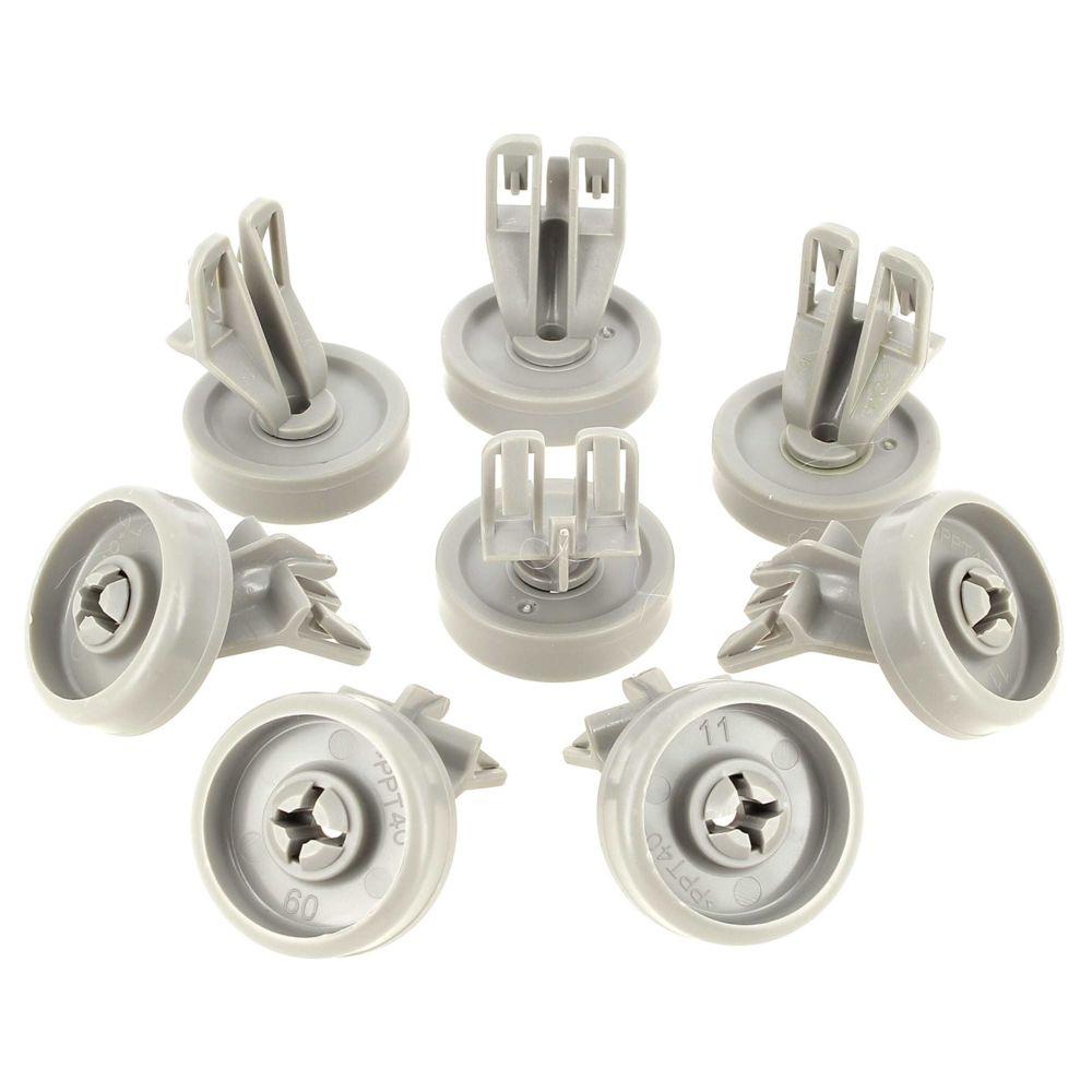 whirlpool Roulette panier inferieur par 8 pour Lave-vaisselle Bauknecht, Lave-vaisselle Laden, Lave-linge Whirlpool, Lave-vaissell