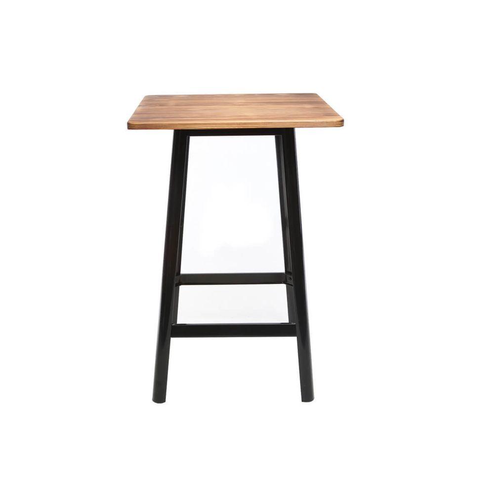 Miliboo Table de bar design noire JONES