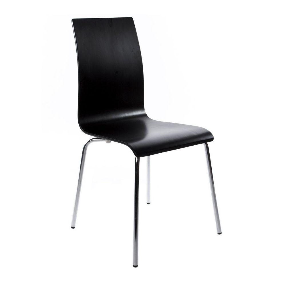Alterego Chaise de salle à manger design 'ESPERA' en bois noire