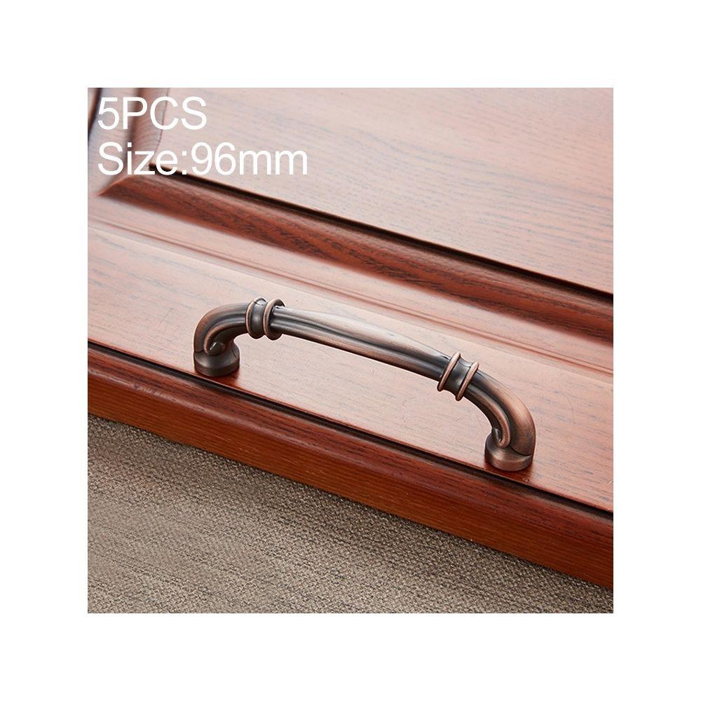 Wewoo Poignée d'armoire 5 de porte à tiroir en bois de pêche rouge PCS 6569-96