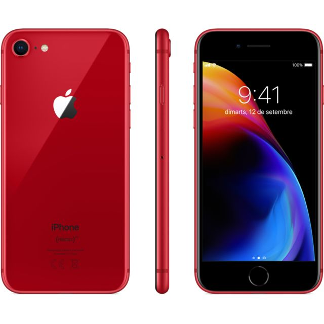 Apple - iPhone 8 - 64 Go - MRRM2ZD/A - PRODUCT RED Special Edition - iPhone 4g+