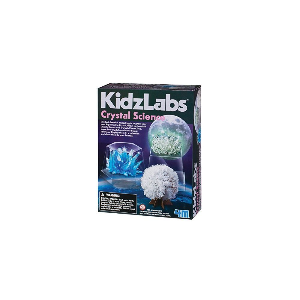 4M 4M Kidzlabs Crystal Science Kit - DIY STEM Toys Lab Experiment Educational Gift for Kids & Teens