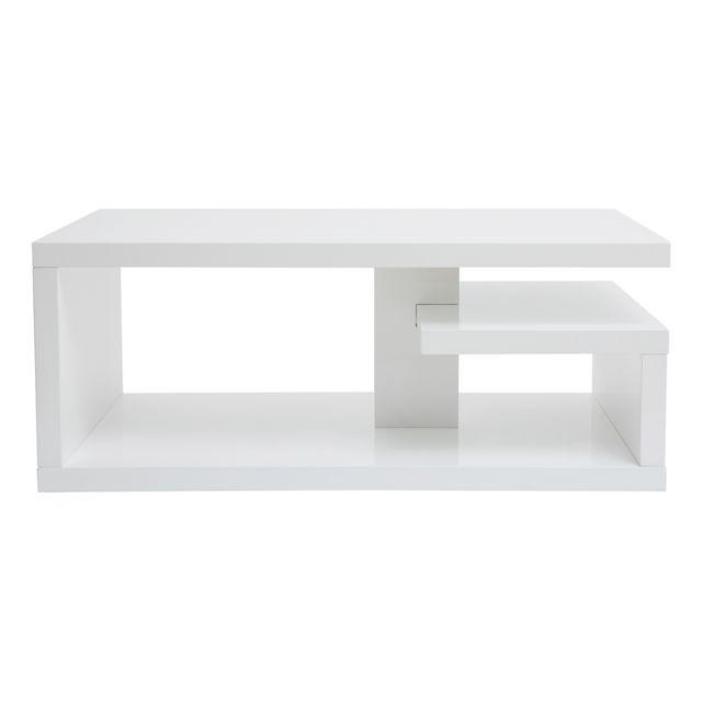 table basse design laquee blanc l100 cm halton