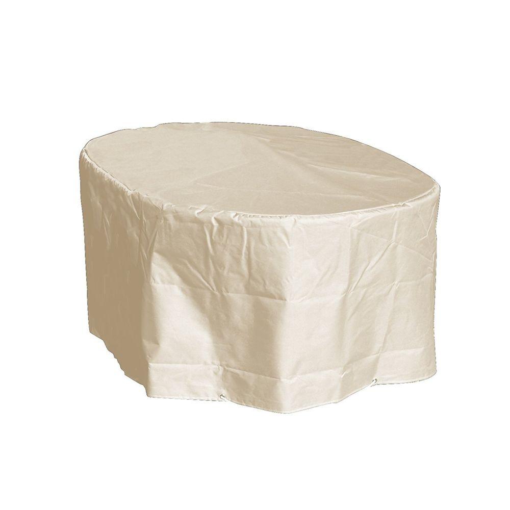 Green Club Housse table ovale L180xl110xh70 Beige