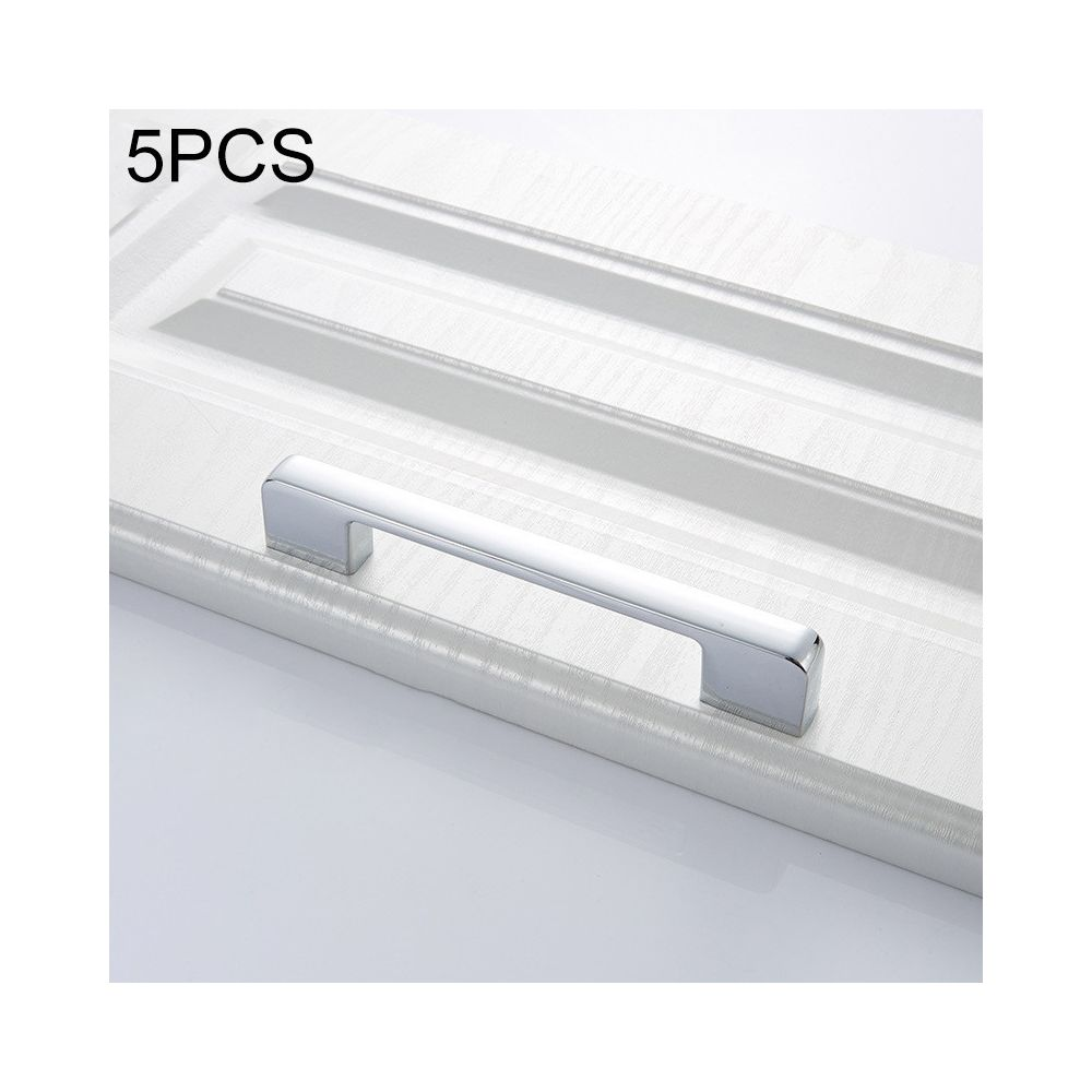 Wewoo Poignée d'armoire 5 PCS 6613-96 de porte simple tiroir en alliage de zinc chrome brillant