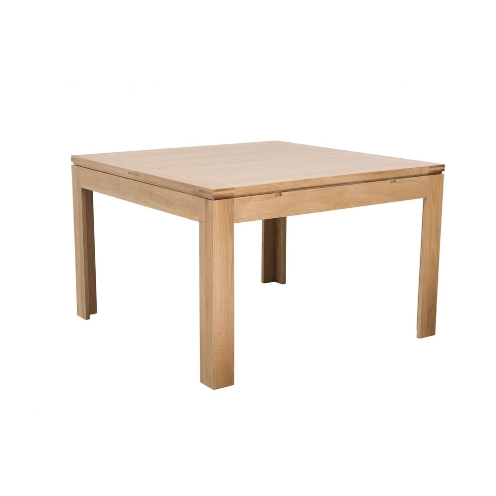 HELLIN Table carrée extensible L140/200 BOSTON - bois chêne clair massif