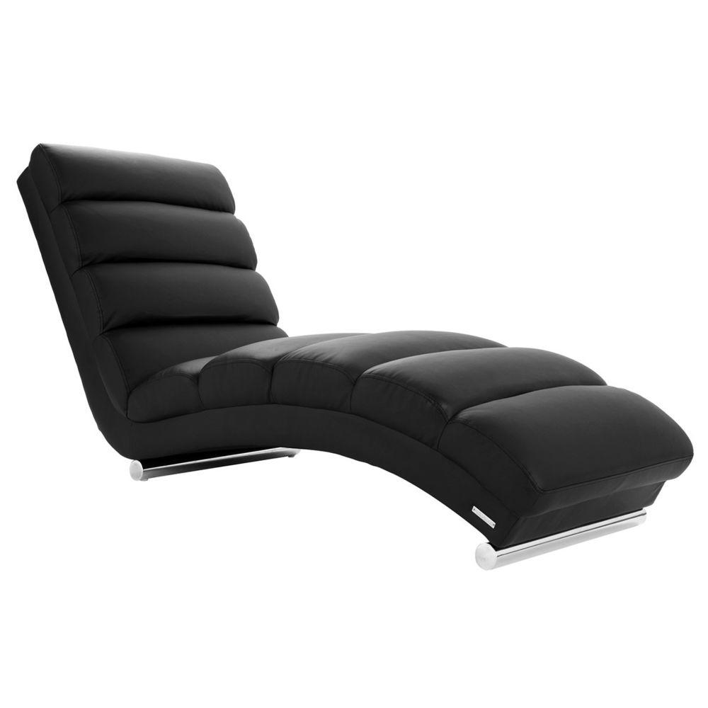 Miliboo Chaise longue / fauteuil design noir TAYLOR