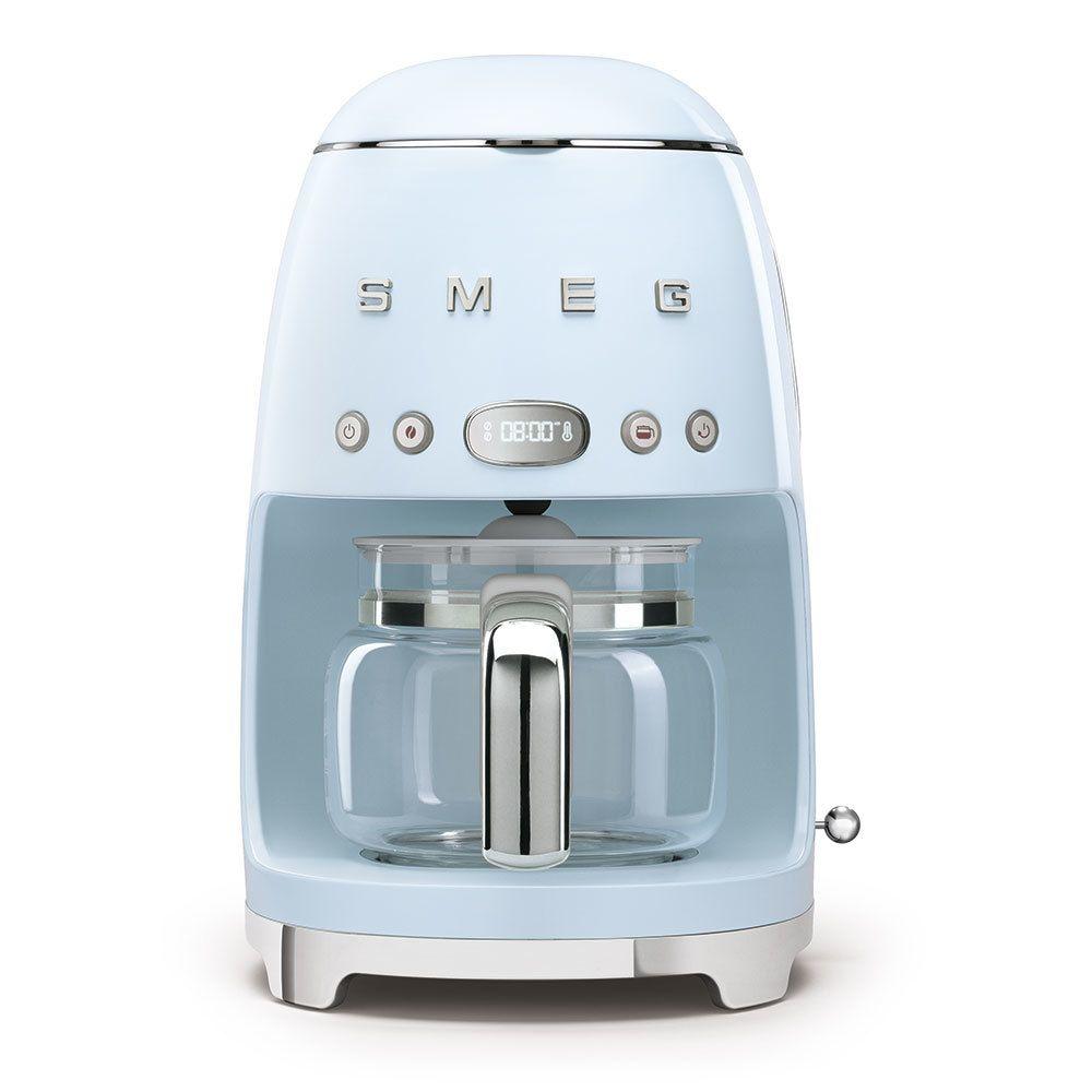 Smeg smeg - cafetière filtre programmable 10 tasses 1050w bleu azur - dcf02pbeu