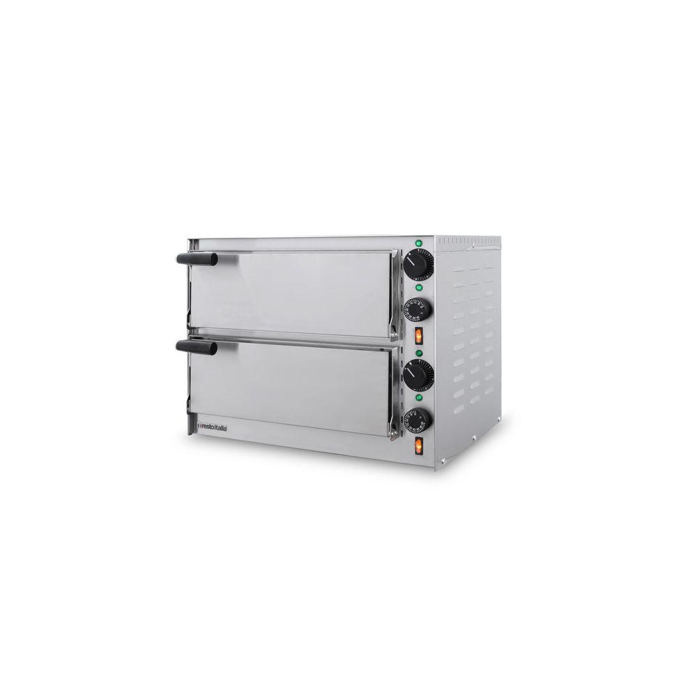 Resto Italia Four à pizza double électrique 2 pizzas - Inox - SMALL 3,2 kW - Resto Italia -