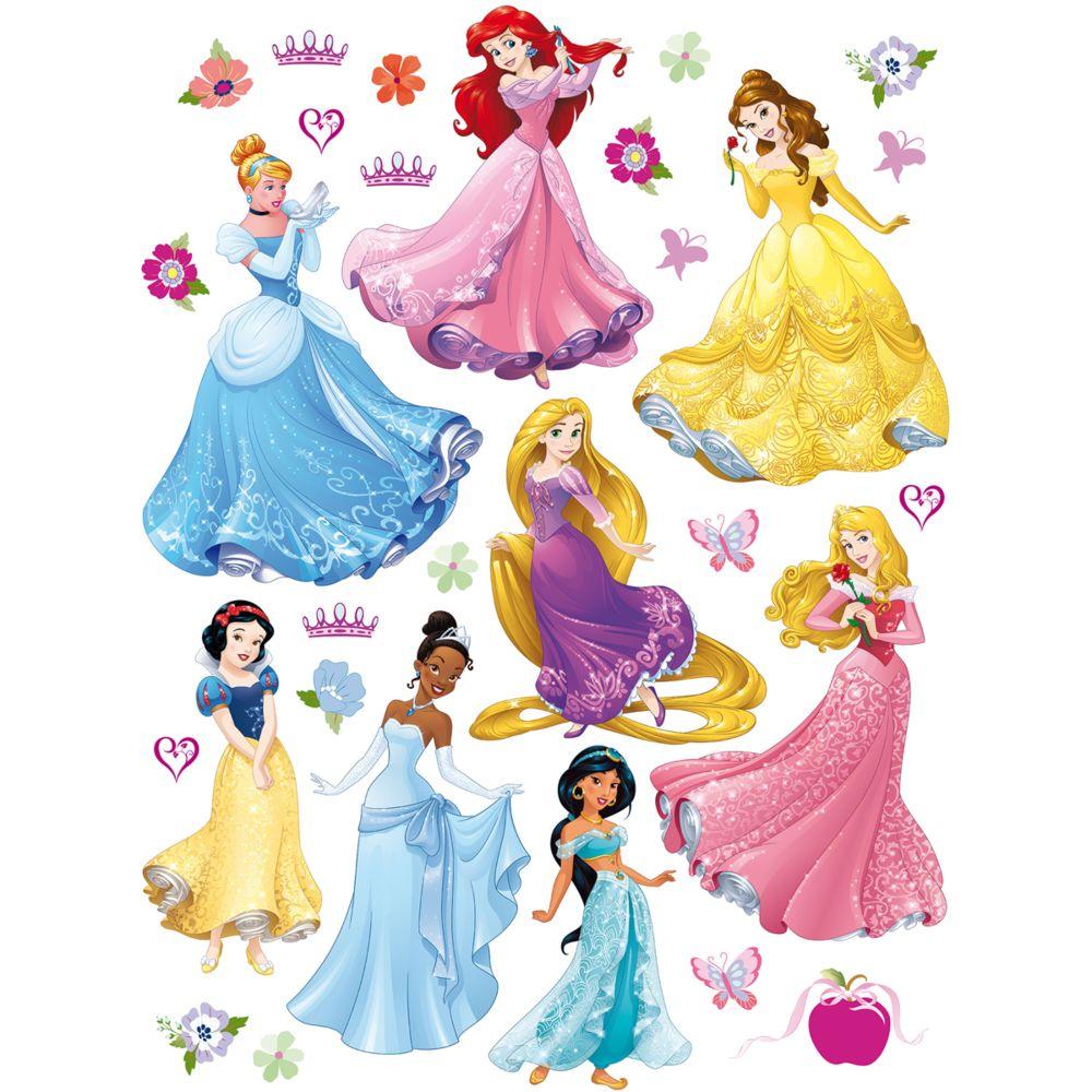 Bebe Gavroche Stickers géant 8 Princesses Disney