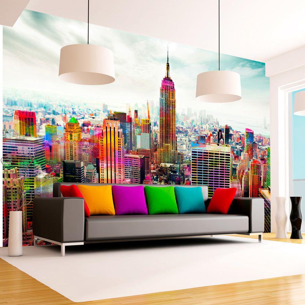 Bimago Papier peint - Colors of New York City - Décoration, image, art | Ville et Architecture | New York |